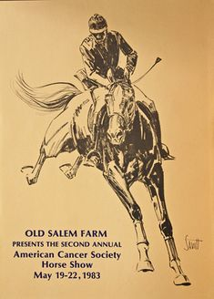 Horse Show Poster: illustration by Sam Savitt (i have always adored his books and illustrations - vicky and the black horse was such a favorite of mine as a girl!)