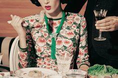Tiana Tolstoi  by Serge Leblon for Vogue Italia November 2013