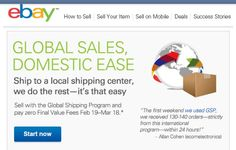Ebay's new global shipping program. Do you think this will increase your sales?