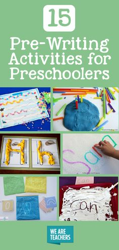 Pre-Writing Activities for Preschoolers - WeAreTeachers: Playdough letters, shaving cream writing, multi-sensory writing. We've got it all.