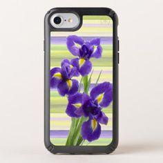 Violet Purple Lilac Irises Watercolor Art Painting Speck iPhone Case - classic gifts gift ideas diy custom unique