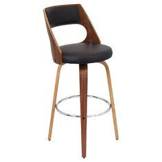 Lumisource Cecina Bar Stool in walnut/brown