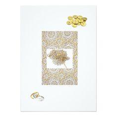 "Spanish Wedding Invitation ""Gold Bands & Coins"""