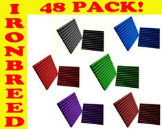 """1"""" Wedge 12""""x 12"""" Acoustic Soundproofing Studio Wall Booth Foam Panels 48 PACK"""