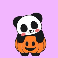 My pumpkin. #pumpkin #panda #pandakuma #halloween #jjpan