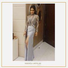 My hottie friend Samridhi in gown ! Fashion Wear, Designer Wear, Women Wear, Celebrity, Gowns, How To Wear, Fashion Design, Beautiful, Vestidos