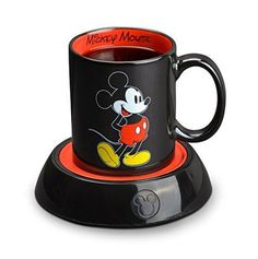 See larger image Additional Images: Disney Mickey Mug Warmer Features: Classic Mickey Mouse Ceramic Mug included! Disney Mickey Mug Warmer with Ceramic Mug Keeps Hot Beverages and Soups Warm … Disney Mickey Mouse, Mickey Mouse Kitchen, Minnie Y Mickey Mouse, Classic Mickey Mouse, Disney Kitchen, Disney Disney, Disney Stuff, Cozinha Do Mickey Mouse, Disney Coffee Mugs