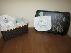 Southern Pearls: A Fan-Sea Baby Shower  Baby Shower Activity - Make a Bib