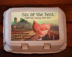 Egg carton labels custom packaging food by galleryinthegarden items similar to printable custom personalized egg carton labels chicken coop supplies food labels on etsy pronofoot35fo Gallery