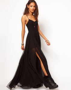 Another Religion maxi dress, the Olsen in black. I live in this dress. 5 layers of chiffon hell yes