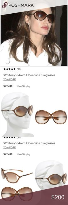 5fd3af64b5 Tom Ford Whitney Sunglasses Tom Ford Whitney Oversized Round Sunglasses.  Gradient lens