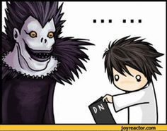 Death Note GIF I did not like Death Note besides L, but this was too funny not to pin.