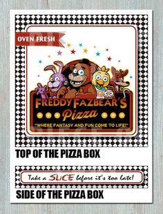 Cinco noches en PIZZA caja para imprimir - cumpleaños - despedida de soltera Freddy - evento - fiesta Favor - decoración