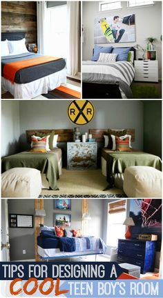 Tips for Decorating a Teen Boy's room.... Some of these are cute for now...