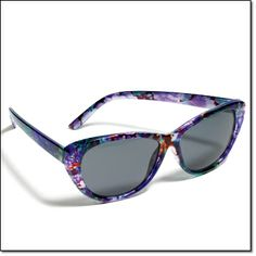 GET IN THE SHADE SUNGLASSES~sophisticated cat eye meets a fun floral print~UV 400 protection http://jgoertzen.avonrepresentative.com/