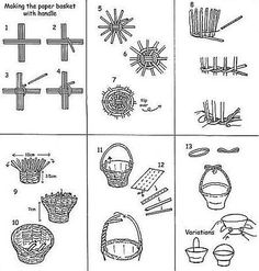 Basketry in newspaper (Chinese basketry). Paper BasketBasket WeavingPaper … You are in the right place about DIY Gifts for cousins … Paper Basket Weaving, Basket Weaving Patterns, Willow Weaving, Newspaper Basket, Newspaper Crafts, Newspaper Paper, Cousin Gifts, Home Decor Baskets, Magazine Crafts