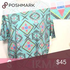 Small Irma Lularoe Adorable tribal print mint Irma !! Size small, (downsize up to 2 sizes) LuLaRoe Tops Blouses