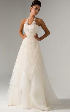 Neckholder gerüschtes Empire Taille sexy romantisches Brautkleid,Und mehr wissen wollen, besuchen Sie bitte http://www.emodeshop.de/brautkleider-d2