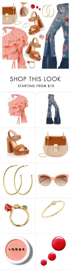 Outfit of the Day 2 by dressedbyrose on Polyvore featuring Rosie Assoulin, Roberto Cavalli, Gianvito Rossi, Chloé, Dyrberg/Kern, Sydney Evan, Linda Farrow, LORAC, Topshop and ootd