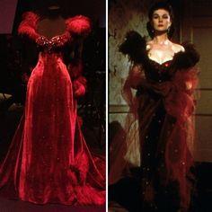 Scarlet O'Hara's  Burgundy Velvet Gown
