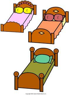 """Goldilocks and Three Bears"" (3 of 3)..To Print Visit http://www.autismhandinhand.com/flash_goldilocks.htm"