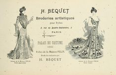 """French costume advertisement, 1900 300ppi, 5x8"""""""