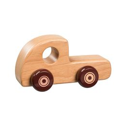 natural wood toy lorry by knot toys   notonthehighstreet.com