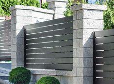 XCEL | Gotowe elementy betonowe na ogrodzenie - Xcel Gate Wall Design, Sliding Gate, Living Room Tv, Diy Home Crafts, Gate Ideas, Fence, Outdoor Structures, Homes, Gates