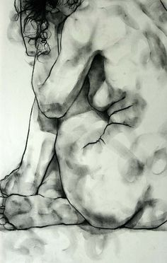 phillipdvorak: One of my drawings - charcoal on paper (20 minute pose).