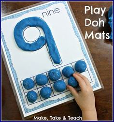Play Doh mats- great hands-on activity for learning number concepts.