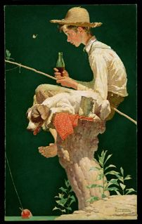 Coca-Cola Is Looking for Its Lost Norman Rockwell Paintings  'Out Fishin'