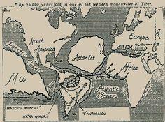 atlantis, lemuria or continent of mu map