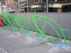 Fish #bike racks  #bikeracks #bicycleracks