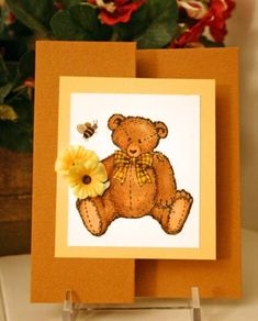 Button Bear LSC177 by CathyRose - Cards and Paper Crafts at Splitcoaststampers