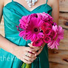 #fuchsia and turquoise wedding