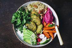 Green Pea Falafel Bowl | Green Kitchen Stories | Bloglovin'