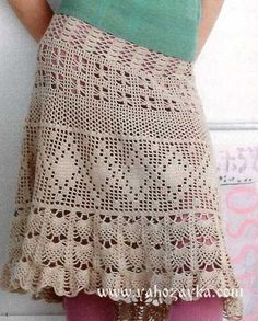 Летняя юбка крючком ажурными узорами. Связать юбку крючком своими руками   Я Хозяйка
