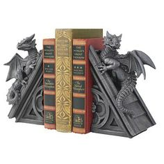 These winged fearful dragons climbing to the crest of Gothic spires will protect your home and inspire your artistic creative ideas… $43.90 http://yourmagicalstore.com/?p=1722 #bookends #decorative bookends #cool bookends