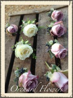 Memory Lane roses buttonholes