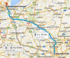 Gemakkelijk met de trein naar Dusseldorf. De snelste manier om vanuit Amsterdam, Utrecht of Arnhem te reizen. In slechts 2:16 vanaf Amsterdam in Dusseldorf