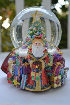 Cm Estate 2004 Christopher Radko Revolving O Christmas Tree Snowglobe   eBay