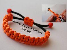 How to Make a Simple Bracelet for Kids -DIY- Gift Ideas- Izrada male dje...