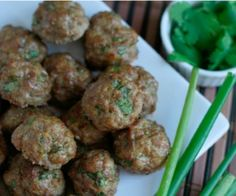 Asian-Style Meatballs with Cilantro and Green Onion Recipe | Paleo inspired, real food
