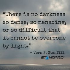"""""""There is no darkness so dense, so menacing, or so difficult that it cannot be overcome by light."""" - Vern P. Stanfill  #StandardProducts #Montreal #Quebec #Ontario #Toronto #Ottawa #Calgary #Alberta #BC #Vancouver #Canada #Lighting #ChasingLight #Light #Q"""