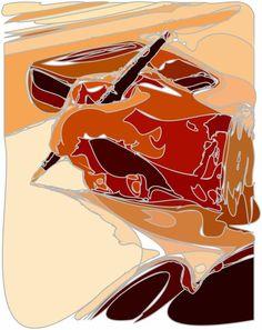 - Hand writing - by Tony Karp - Techno-Impressionist Museum - Techno-Impressionism