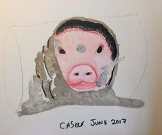 #pig sick #art #watercolour