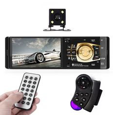 """4032B Car Radio Player Auto 4.1"""" Screen Bluetooth HD USB Video Mp5 Player For Stereo Music With Rear view Camera."""