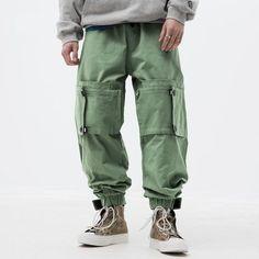 Urban Outfits, Fashion Outfits, Men Fashion, Casual Outfits, Japanese Streetwear, Streetwear Men, Mens Jogger Pants, Cargo Jeans, Harajuku Fashion