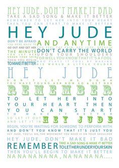 The Beatles - Hey Jude - 1968 Album=Hey Jude Song Lyrics. One of my favorite Beatles songs Beatles Songs, The Beatles, Beatles Quotes, Beatles Art, Ringo Starr, Paul Mccartney, John Lennon, Music Love, Music Is Life