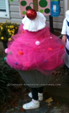 Pink Cupcake Toddler Costume with Sprinkles and a Cherry on Top ... This website is the Pinterest of costumes
